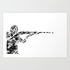 The man with the gun Art Print by Jake Stanton - $16.00