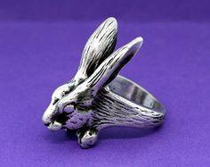 Popular items for rabbit ring on Etsy