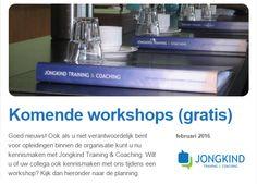 Goed nieuws over de workshops ter kennismaking (gratis) van Jongkind Training & Coaching. De eerstvolgende workshop is 'Effectief Beïnvloeden'. http://eepurl.com/bM0fcj