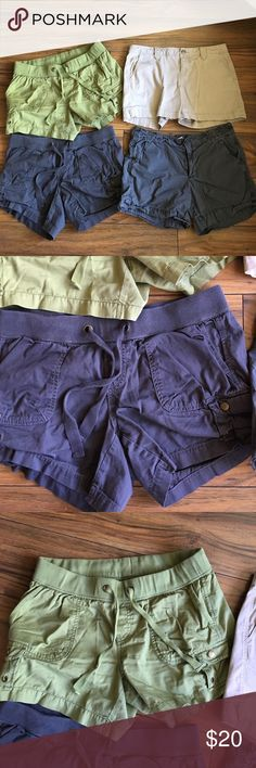 Bundle of (4) shorts Cotton shorts.  The khaki, green, gray are Old Navy, the other one is Gap GAP Shorts