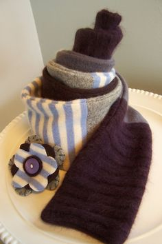 Eco friendly Soft cuddly handmade Cashmere Scarf by sbretro, $40.00