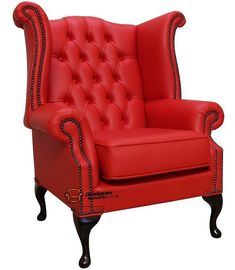 1000 ideas about red leather sofas on pinterest leather - High back wing chairs for living room ...
