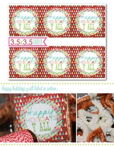 Holiday Printables,  Y'all Labels, Holiday Gift Baskets, Printable party decor, Party Box Design