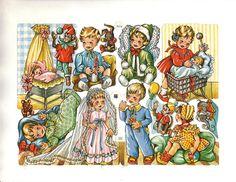 Vintage Die-cut Scrap Children in Costume by EAS (Image1)