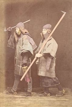 Japanese Firemen. Circa 1880.