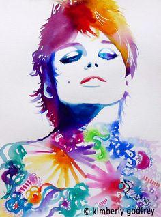 Edie Sedgwick Fashion Portrait Pop Art Print of by KimberlyGodfrey