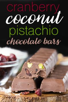 Cranberry Coconut Pistachio Chocolate Bars - Simply Stacie (IMM #111)