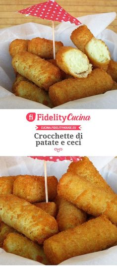 Crocchette di patate e ceci Vegetable Recipes, Vegetarian Recipes, Antipasto, Cheese Rolling, Sans Gluten, Finger Foods, Buffet, Food Porn, Food And Drink
