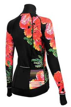 Chill Factor Flamboyant women's cycling jersey. The perfect addition to your cycling clothing and ready for outdoor cycling!