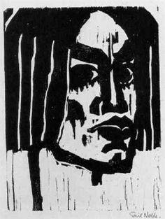 Frauenkopf III by Emil Nolde