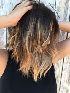 Image result for lob balayage brunette
