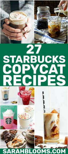Skip the drive-through this year and make your own coffee drinks at home at a fraction of the cost with these Easy + Delicious Starbucks Copycat Drinks! Starbucks Strawberry, Starbucks Vanilla, Starbucks Recipes, Starbucks Drinks, Keto Friendly Desserts, Low Carb Desserts, Health Desserts, Coffee Drink Recipes, Coffee Drinks