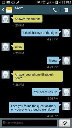 Hilarious text Funny mom text Elizabeth