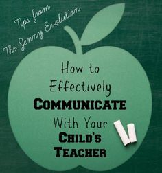 Tips on how to effectively community with your child's teacher | The Jenny Evolution