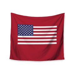 """Kess InHouse Bruce Stanfield """"Flag of Usa"""" Contemporary Digital Wall Tapestry 51'' x 60'' (Flag of USA), Blue (Polyester)"""