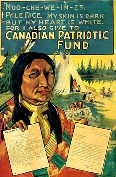 """""""La mia faccia è scura ma il mio cuore è bianco perché anch'io dono al fondo patriottico canadese"""""""