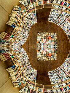 A library from above