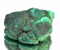Certified 89.00 CT. Natural Green Malachite Rough Shaped Gemstone S.T NO-9351