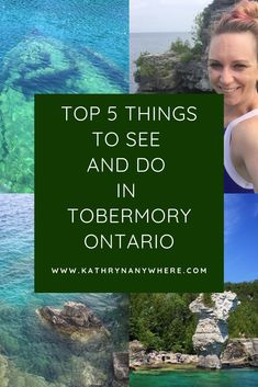 Top 5 Dinge, die Sie in Tobermory Ontario sehen und tun sollten, Tobermory Canada, Tobermory Ontario, Flowerpot Island, Places To Travel, Places To Visit, Ontario Parks, Ontario Travel, Canada Destinations, Visit Usa