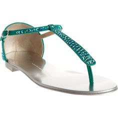 Giuseppe Zanotti Rhinestone T-Strap Sandal