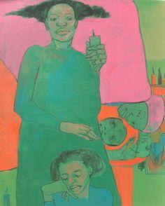 """Lucía Méndez Rivas """"Velas para el servicio"""" 61 cm x 51 cm Oil and charcoal on canvas - sold"""