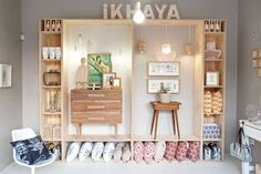 Ikhaya , Durban's go-to shop for home décor and must-have art and design pieces. *Linha home Bar Design, Design Studio, Display Design, Store Design, Display Ideas, Visual Merchandising, Vitrine Design, Store Interiors, Retail Interior