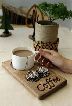 Coffee and tea service made of wood. Cafe restaurant for office and home - bar . - Coffee and tea service made of wood. Cafe restaurant for office and home – bar … - Rustic Kitchen Tables, Rustic Table, Diy Kitchen, Kitchen Decor, Kitchen Ideas, Kitchen Paint, Kitchen Wood, Kitchen Modern, Kitchen Interior
