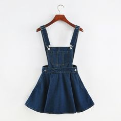 These Cute Kawaii Denim Overalls Are Perfect For Upcoming Spring And Summer Made With High Quality Denim And Available In Two Different Colors S Skirt length 41 cm, Waist 64 cm M Skirt length 41 cm, W