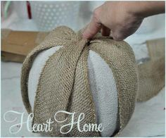 Burlap Pumpkin! - All Things Heart and Home
