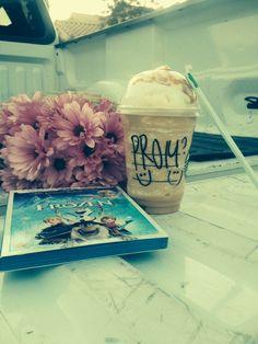 Prom 2014 promposal frozen Starbucks best boyfriend