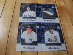 Joe #DiMaggio #VicRaschi #BillDickey #2008 UD #YankeeStadium Legacy 4 Card Lot | #eBay #JoeDiMaggio #baseball