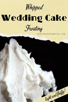 BEST Wedding Cake Frosting Recipe A light, whipped white frosting with a delicate almond flavor -- perfect for wedding cakes because it holds up really well. This makes 4 cups, enough for 2 layers. Almond Wedding Cakes, Wedding Cake Frosting, Wedding Cakes With Cupcakes, Cool Wedding Cakes, Almond Cakes, Simple Cupcakes, Cupcake Wedding, Wedding Cake Recipes, Wedding Cake Fillings