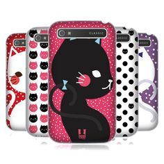HEAD CASE DESIGNS CATS AND DOTS HARD BACK CASE FOR BLACKBERRY PHONES #HeadCaseDesigns
