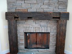 Vote for Great Room Features | Blog Cabin. Rustic fireplace mantle.