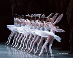 "Mariinsky corps de ballet in the Kingdom of the Shades Act from ""La Bayadère."" Photo (c) Gene Schiavone."