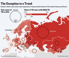 MAP: Tuberculosis cases in Eastern Europe and Russia