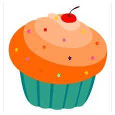 Yummy Cupcake Wall Art Poster
