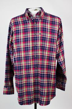 Brooks Brothers Mens M Original Fit Flannel Plaid Check Button Front Shirt  #BrooksBrothers #ButtonFront