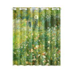 Renoir Woman with Parasol Garden Floral Window Curtain 52