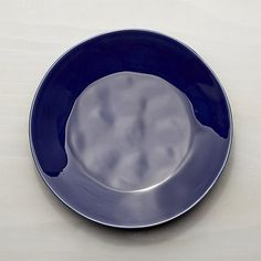 Marin Dark Blue Dinner Plate | Crate and Barrel