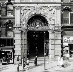 Kirkgate market bradford Bradford City, Industrial Photography, West Yorkshire, Black And White Pictures, Old West, Leeds, Old Photos, Childhood Memories, Arcade