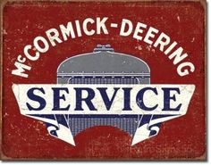 McCormick Deering Tractor Advertising Sign Farm Equipment Picture Poster Gift