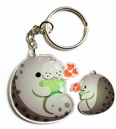 This incredibly cute keychain. | 19 Incredibly Cute Products For Everyone Who Loves Manatees