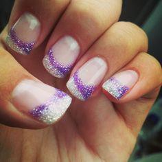 Purple and white nails @Brandy Waterfall Waterfall Waterfall Waterfall Rae Rossmiller