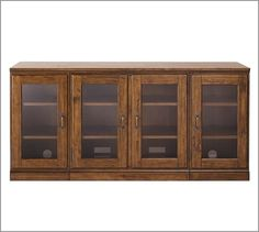 Printer's TV Stand/Glass Cabinet | Pottery Barn