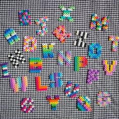 90's style hama bead letters www.etsy.com/uk/shop/HouseofBricks
