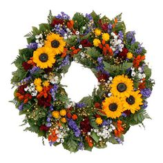 Large Preserved Sunflower Wreath