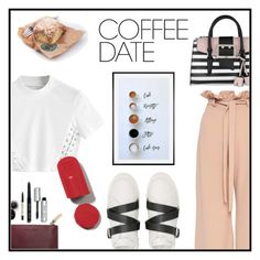 """Long time"" by lulu0205 ❤ liked on Polyvore featuring Valentino, GUESS, Bobbi Brown Cosmetics, Pottery Barn and CoffeeDate"