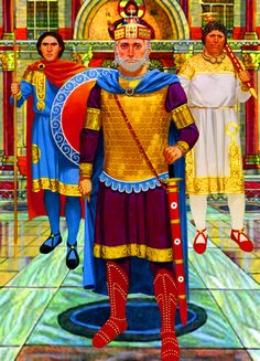 Byzantine Emperor with Guard officer and Basilikoi Anthropoi Guardsmen Ancient Rome, Ancient Greece, Ancient History, Medieval, Military Art, Military History, Byzantine Army, Zombie Army, Historical Fiction Novels