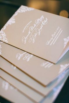 Wedding ceremony program idea; Featured photographer: Clane Gessel Photography